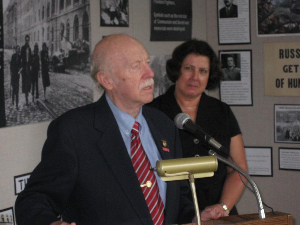 Dr. August Pust with Gabriella Nadas