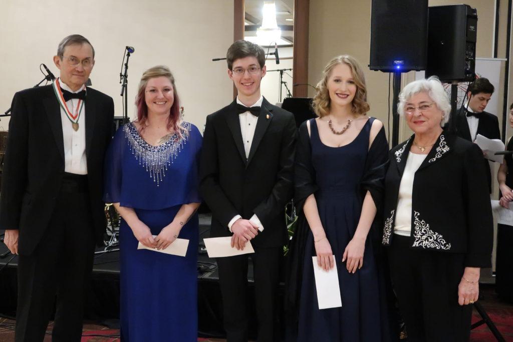 Ladanyi Competition winners Kerrie King 3rd, Ferenc Somogyi 2nd, Julia Szentkiraly 1st